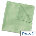Wypall Microfibre Cleaning Cloths for Dry or Damp Multisurface Use Green Ref 8396 Pack 6 840912