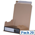 Flexocare Lever Arch File Mailer Pack Strong Adhesive Closure Internal W320x35-80x290mm Pack 20