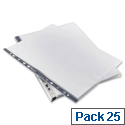 Rexel Recycled Punched Pockets A4 Pack 25