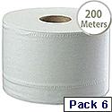 Tork White SmartOne Dispenser Toilet Roll 2 Ply 200 Metres Pack of 6 472242