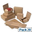 Smartbox EasiMailer VB2 Kraft Mailing Box W190xD131xH76mm Ref 97381002 Pack 20 849461