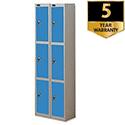 3 Door Locker Nest of 2 Extra Deep Silver Blue Trexus Plus