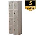 4 Door Locker Nest of 2 460mm Deep Silver Trexus