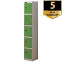 5 Door Locker Silver Green Trexus