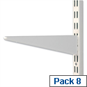 Trexus Top Shelf Brackets for Steel Shelving Unit 270mm Pack 8 878099