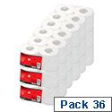 White Toilet Tissue 36 Rolls 5 Star Toilet Paper Rolls