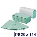 5 Star C Fold Paper Towels 144 Towels Per Sleeve 20 Sleeves 230x305mm Green [2880 Towels]