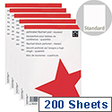 A1 Flipchart Pad Squared Perforated 40 Sheets Feint 25mm Pack 5 5 Star