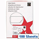 Office Address Labels Inkjet 14 per Sheet 99.1 x 38.1mm White 1400 Labels 5 Star