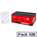 C5 White Envelopes Pocket Peel and Seal Pack 500 5 Star
