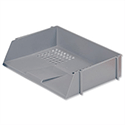 Wide Entry Letter Tray Grey Stackable 5 Star