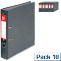 A4 Lever Arch Files 50mm Spine Cloudy Grey 5 Star Pack 10
