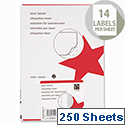 5 Star Address Labels 99.1x38.1mm White (3500 Labels)