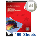 A4 White Inkjet Presentation Paper Matt 165gsm Pack 100 5 Star
