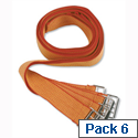 Deed Straps with Buckle strapssp/red/y36 Pack 6