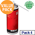5 Star Computer Air Dusters Cans HFC Free Compressed Gas Flammable 400ml [Pack 4]