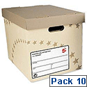 Archive Storage Box Foolscap Superstrong Sand 10 Pack 5 Star