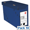 Transfer Case Foolscap Blue 10 Pack 5 Star