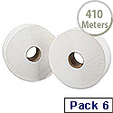 5 Star Jumbo Dispenser Roll 2-ply 9x38cm 410m Pack 6