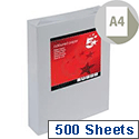 A4 Medium Grey Coloured Paper Multifunctional Ream-Wrapped 80gsm 500 Sheets 5 Star