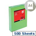 Deep Green A4 Coloured Printer Paper Multifunctional Ream-Wrapped 80gsm 500 Sheets 5 Star