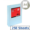 A4 Light Blue Coloured Card Multifunctional 160gsm 5 Star (250 of Sheets)