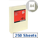 A4 Light Cream Coloured Card Multifunctional 160gsm 5 Star (Pack of 250 Sheets)