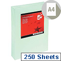 A4 Light Green Coloured Card Multifunctional 160gsm 5 Star (Pack of 250 Sheets)
