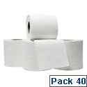 5 Star Luxury Toilet Tissue Rolls White 240 Sheets per Roll [Pack 40]