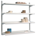 Trexus Top Shelf Steel Shelving Unit System 4 Shelves Wall-mounted W1000xD270xH1048mm Metal 99067X