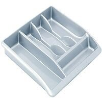 Addis Metallic Silver Cutlery Tray (Pack of 1) 510855