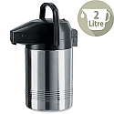 Pump Flask Stainless Steel Catering 2 Litres With 8 hours Heat Retention