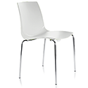 ARI White Canteen Stacking Chair