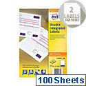 Avery Double Integrated Label 85x54mm (200 Labels)