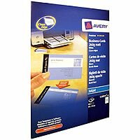 Avery Quick And Clean Matt Inkjet Business Card 85x54mm White Pk 10 Sheets C32015-10