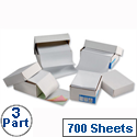 3 Part Carbonless Listing Paper 241mm 700 Sheets Challenge