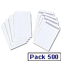 C5 White Envelopes Pocket Press Seal Pack 500 5 Star