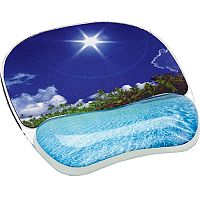 Fellowes Photo Gel Mouse Pad Wrist Support Beach 9202601