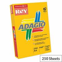Adagio Card A4 160gsm Orange (Pack of 250)