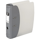 Hermes Lever Arch File Heavy Duty A4 80mm Capacity Metallic Silver 832006