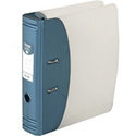 Hermes Lever Arch File Heavy Duty A4 80mm Capacity Metallic Blue 832007