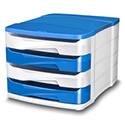 Ceppro Gloss 4 Drawers Module Blue 394G