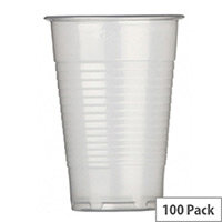 Maxima Disposable Water Cups Clear 7oz/200ml [Pack of 100]