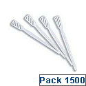 White Plastic Tea and Coffee Stirrers Dispenser Box Pack of 1500 0787