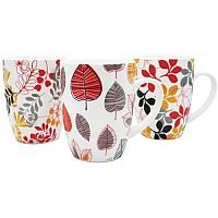 12oz Bullet Mugs Leaf Design (Pack of 12) P1160117