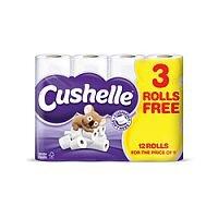 Cushelle Toilet Paper Rolls White (Pack of 12) 1102089