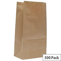 Paper Bag Brown W250 x D150 x H305mm 3.25kg (Pack of 500) 302165