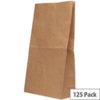 Paper Bag Brown W305 x D215 x H387mm 6.5kg (125 Pack)