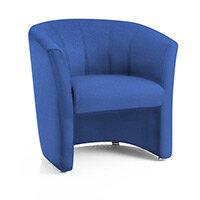 Neo Single Reception Tub Chair Blue Fabric