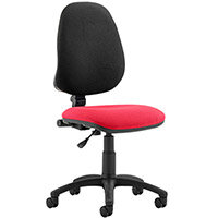 Eclipse I Lever Task Operator Office Chair Cherry Red Seat